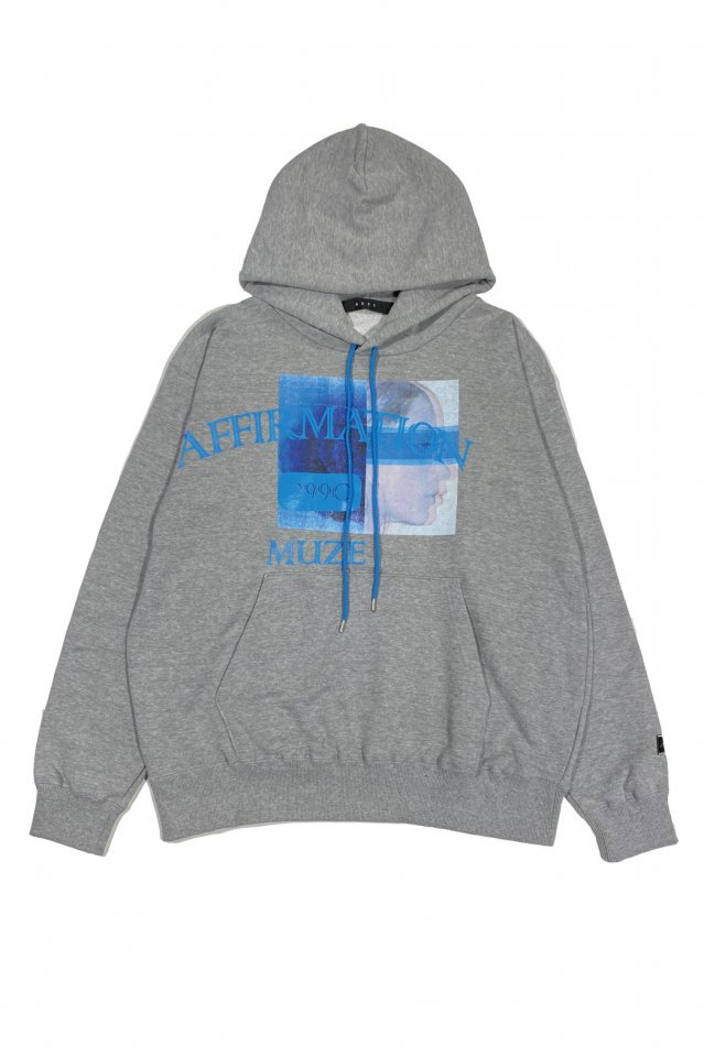 MUZE BLACK LABEL - affirmation HOODIE(ASH GRAY)