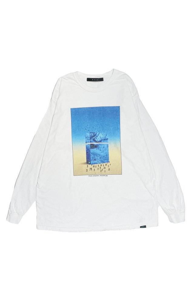 MUZE BLACK LABEL - MONOLITH L/S TEE(WHITE)