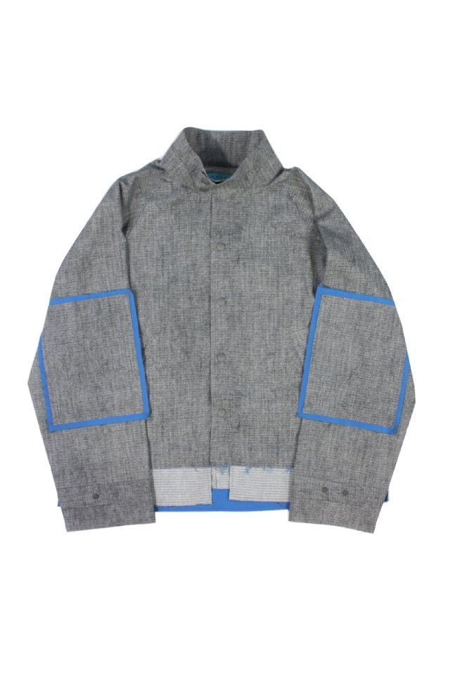 MUZE TURQUOISE LABEL - DOT AIR SEERSUCKER SHIRT(NOISE)