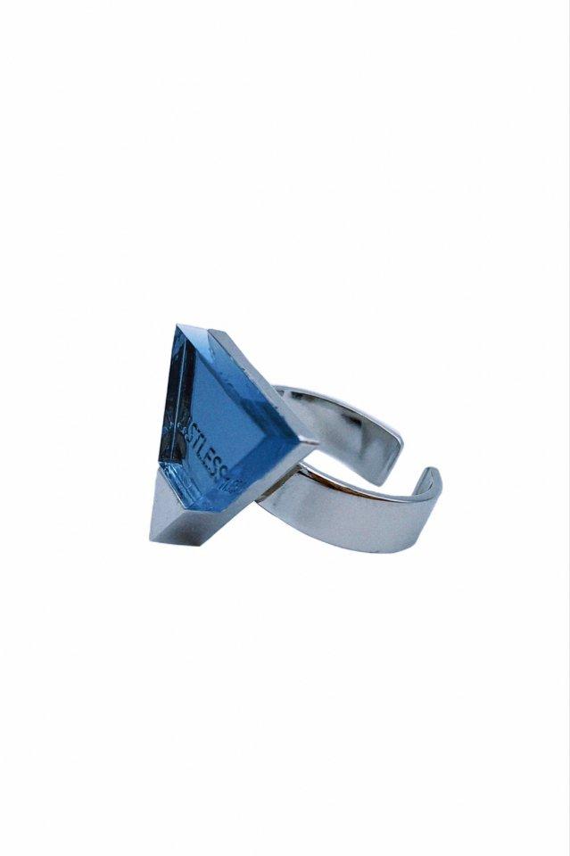 """LISTLESS - LOGO RING """"Transparence Tart"""" 透明タルト(BLUE)"""