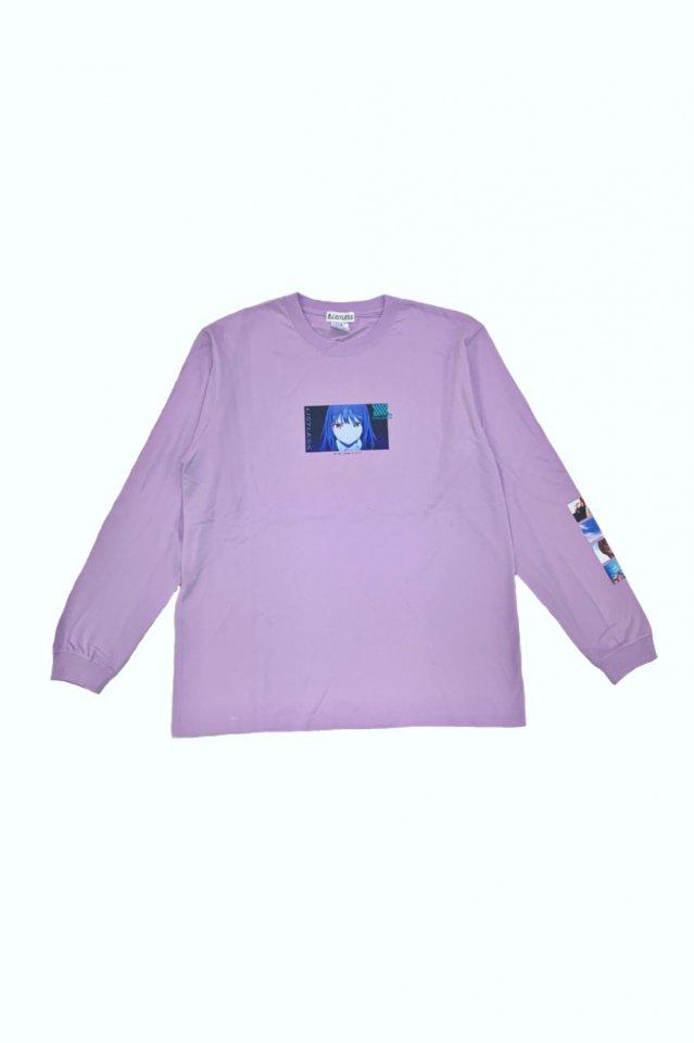 【受注商品12月お届け】LISTLESS-SSSS.DYNAZENON「思い残した記憶って、何?」L/S T-Shirts(PURPLE)