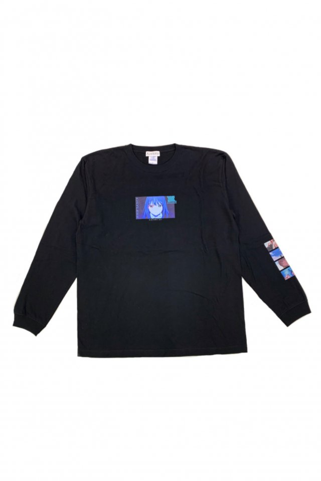 【受注商品12月お届け】LISTLESS-SSSS.DYNAZENON「思い残した記憶って、何?」L/S T-Shirts(BLACK)