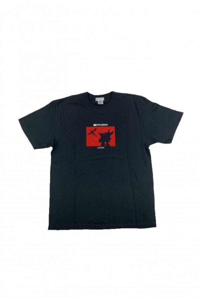 【受注商品12月お届け】LISTLESS-SSSS.DYNAZENON「ダイナゼノン&ゴルドバーン/シルエット T-Shirts」(BLACK×RED)