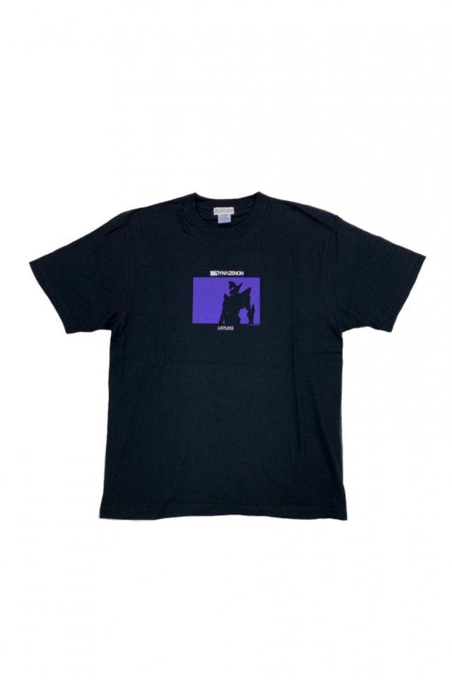 【受注商品12月お届け】LISTLESS-SSSS.DYNAZENON「グリッドナイト/シルエット T-Shirts」(BLACK×PURPLE)