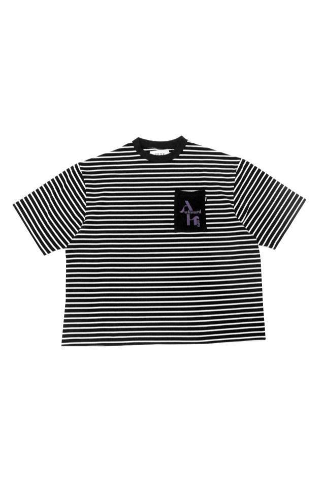【10月2日(土)発売開始】PRDX PARADOX TOKYO - REVERSE BORDER TEE (BLACK×WHITE)