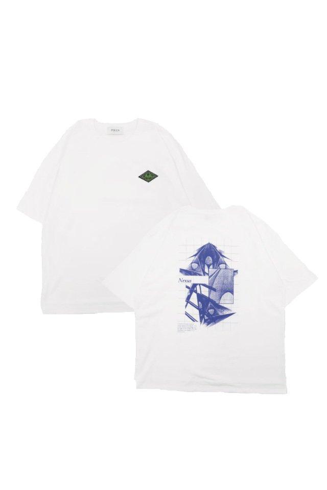 "【10%OFF】PRDX PARADOX TOKYO×KANATA GOTO - ""Nexus"" HALF SLEEVE T-SHIRTS (WHITE)"