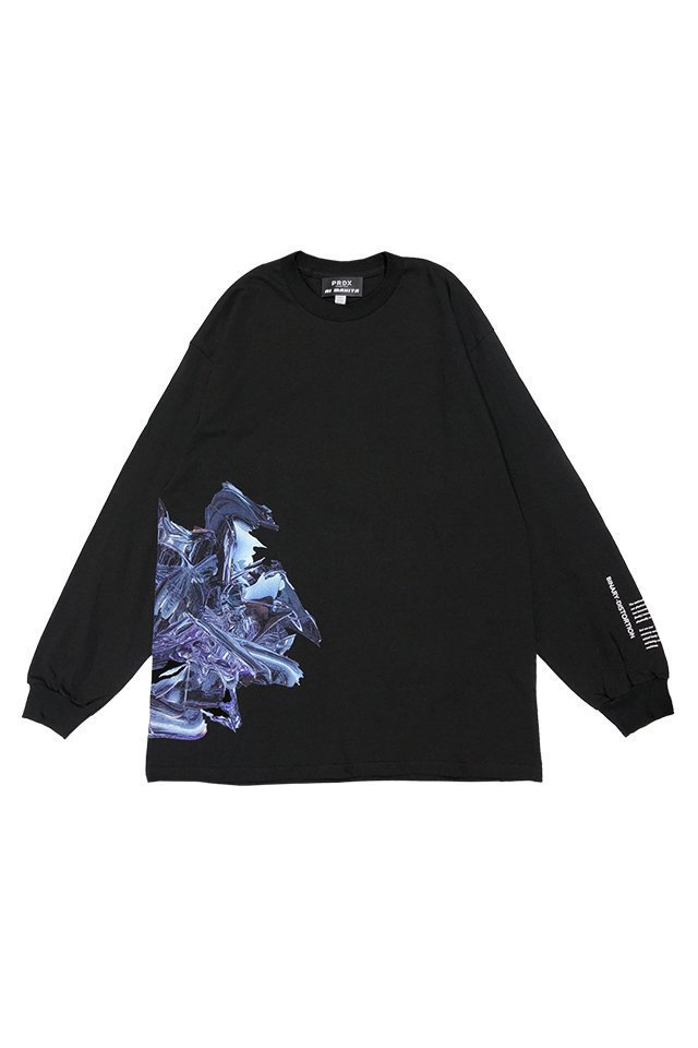 """<img class='new_mark_img1' src='https://img.shop-pro.jp/img/new/icons20.gif' style='border:none;display:inline;margin:0px;padding:0px;width:auto;' />【30%OFF】PRDX PARADOX TOKYO×AI MAKITA - """"Metabolism""""  L/S TEE (BLACK)"""
