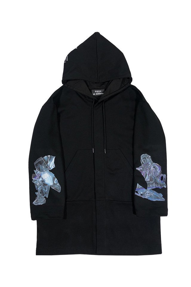 """<img class='new_mark_img1' src='https://img.shop-pro.jp/img/new/icons20.gif' style='border:none;display:inline;margin:0px;padding:0px;width:auto;' />【30%OFF】PRDX PARADOX TOKYO×AI MAKITA - """"Metabolism"""" HOODED LIGHT COAT (BLACK)"""