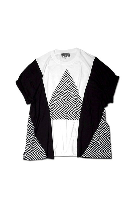 THE TEST -  REMAKE BIG TEE(ACID TRIANGLE-WHITE)
