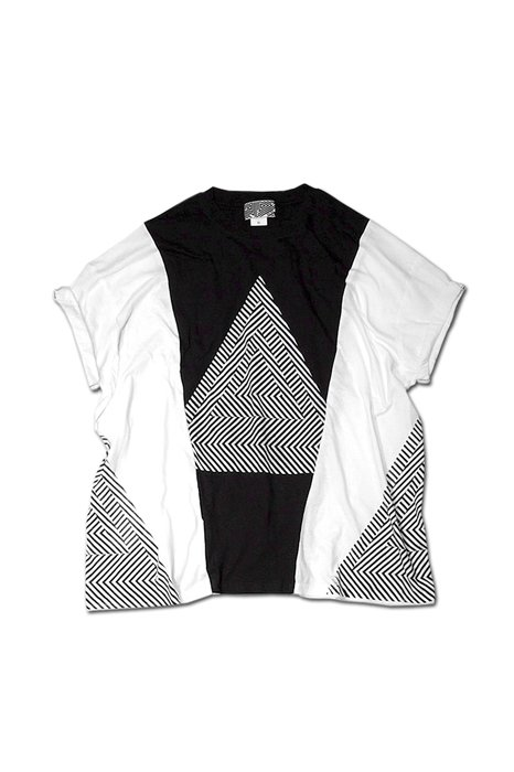 THE TEST - REMAKE BIG TEE(ACID TRIANGLE-BLACK)