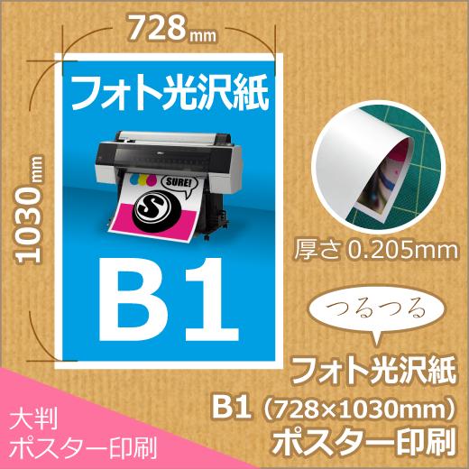 光沢紙B1ポスター印刷 (728x1030mm)