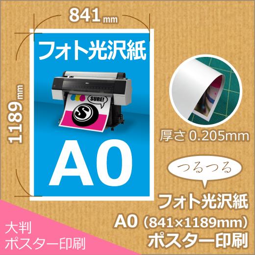 光沢紙A0ポスター印刷 (841x1189mm)