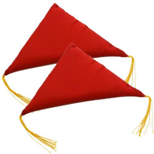 額受け用 三角ふとん(1組2個入)無地 赤 大 送料無料