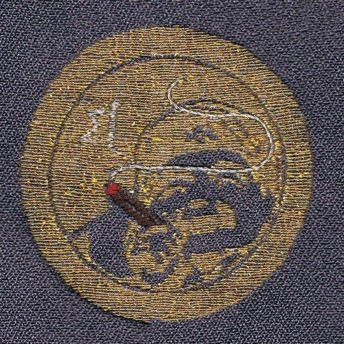 着物 男性 オリジナルお洒落紋 ミシン刺繍 一つ紋 三つ紋 五つ紋