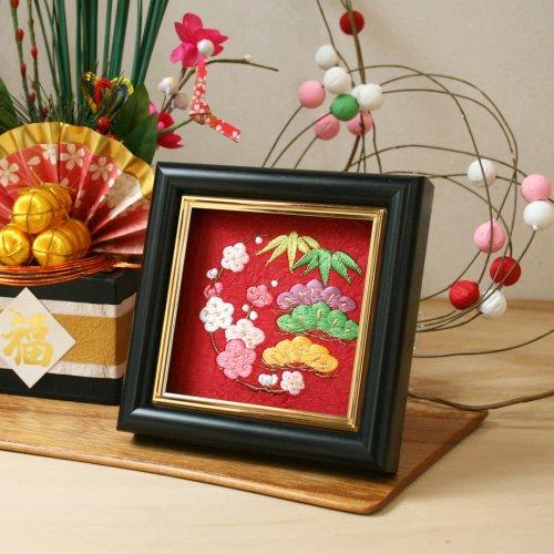お正月飾り「和紙繍」