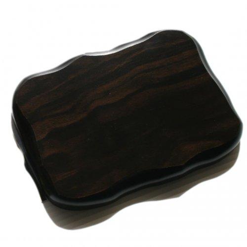 花台 木製黒丹調 平板 6号サイズ