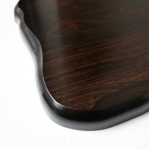 花台 木製黒丹調 平板 10号サイズ