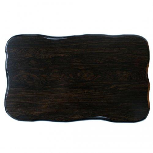 花台 木製黒丹調 平板 12号サイズ