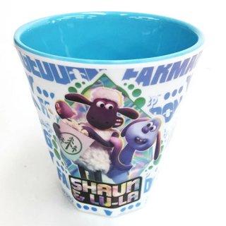 ひつじのショーン メラミンカップ(ブルー)