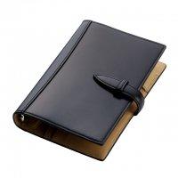 ブレイリオ/Brelio コードバン バイブルサイズ システム手帳 6穴19mm No.581-10 ブラック