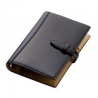 ブレイリオ/Brelio コードバン バイブルサイズ システム手帳 6穴19mm No.581 チョコ