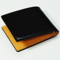 【生産中止モデル】ブレイリオ/Brelio コードバン 二つ折り財布 No.4015 ブラック