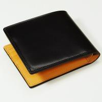 【生産中止モデル】ブレイリオ/Brelio コードバン 二つ折り財布 No.4015 チョコ