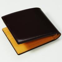【生産中止モデル】ブレイリオ/Brelio コードバン 二つ折り財布 No.4015 ワイン