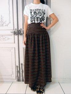 ボーダーロングスカート