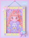 ★オリジナルフレーム&複製イラスト★3『♥CANDY ☆BEAR♥』