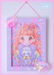 ★オリジナルフレーム&複製イラスト★4『♥CANDY ☆BEAR♥』
