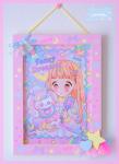 ★オリジナルフレーム&複製イラスト★5『Fancy Dreamer♡キラキラヘアーのおともだち 』