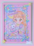 ★オリジナルフレーム&複製イラスト★13『Fancy Dreamer♡キラキラヘアーのおともだち』
