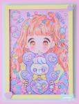 ★オリジナルフレーム&複製イラスト★14『♥CANDY ☆BEAR♥』