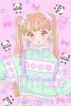 チャイナなセーターとパンダ♡ポストカード