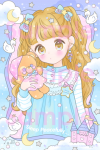 <img class='new_mark_img1' src='https://img.shop-pro.jp/img/new/icons1.gif' style='border:none;display:inline;margin:0px;padding:0px;width:auto;' />☁Sleep Peacefully☆ポストカード