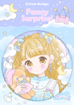 <img class='new_mark_img1' src='https://img.shop-pro.jp/img/new/icons1.gif' style='border:none;display:inline;margin:0px;padding:0px;width:auto;' />☁Sleep Peacefully☆缶バッチ