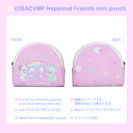 028ACVMP Happimal Friends mini pouch
