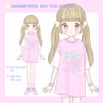 <img class='new_mark_img1' src='https://img.shop-pro.jp/img/new/icons1.gif' style='border:none;display:inline;margin:0px;padding:0px;width:auto;' />029AMTDOS BIG TEE DRESS