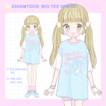 <img class='new_mark_img1' src='//img.shop-pro.jp/img/new/icons1.gif' style='border:none;display:inline;margin:0px;padding:0px;width:auto;' />030AMTDOS BIG TEE DRESS