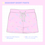 043VSHP VELOUR SHORT PANTS