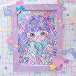 <img class='new_mark_img1' src='https://img.shop-pro.jp/img/new/icons1.gif' style='border:none;display:inline;margin:0px;padding:0px;width:auto;' />020★木製フレーム付きイラスト★【壁掛けタイプ】A4サイズ