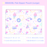 060ACBL Flat Zipper Pouch (Large)