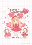 Valentine's Heart Balloon♡ポスター(ホワイト)