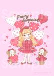 Valentine's Heart Balloon♡ポスター(ピンク)