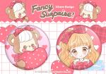 Valentine's Heart Balloon♡缶バッチセット