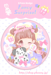 ■Baby♡Pink缶バッチ