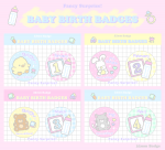 ■BABY♡BIRTH BADGES