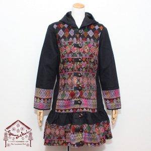 ヤオ族刺繍フレアロングコート【B】
