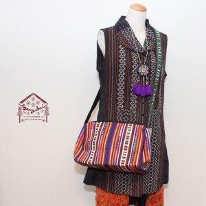 リス族刺繍斜め掛けバッグ